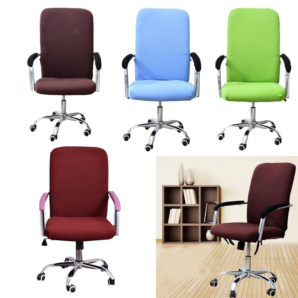 Housse-de-fauteuil-Fauteuil-de-bureau-confortable-Housse-de-siege-pivotant miniature 4