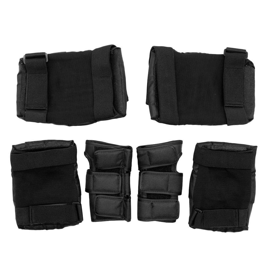 Set-6-Knee-Elbow-Wrist-Pad-Protective-Guard-Cap-for-Skateboard-Cycling-Skate thumbnail 3