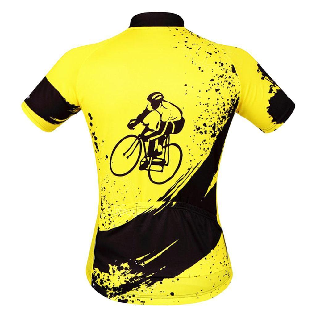 Homme-Maillots-De-Cyclisme-Velo-a-Manches-Courtes-Respirant-T-Shirt miniature 21