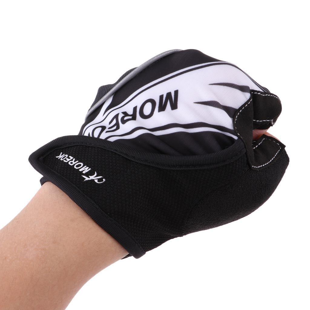 Reflective-Cycling-Gloves-Half-Finger-Gel-Padded-Bike-Bicycle-Fitness-Gloves thumbnail 7
