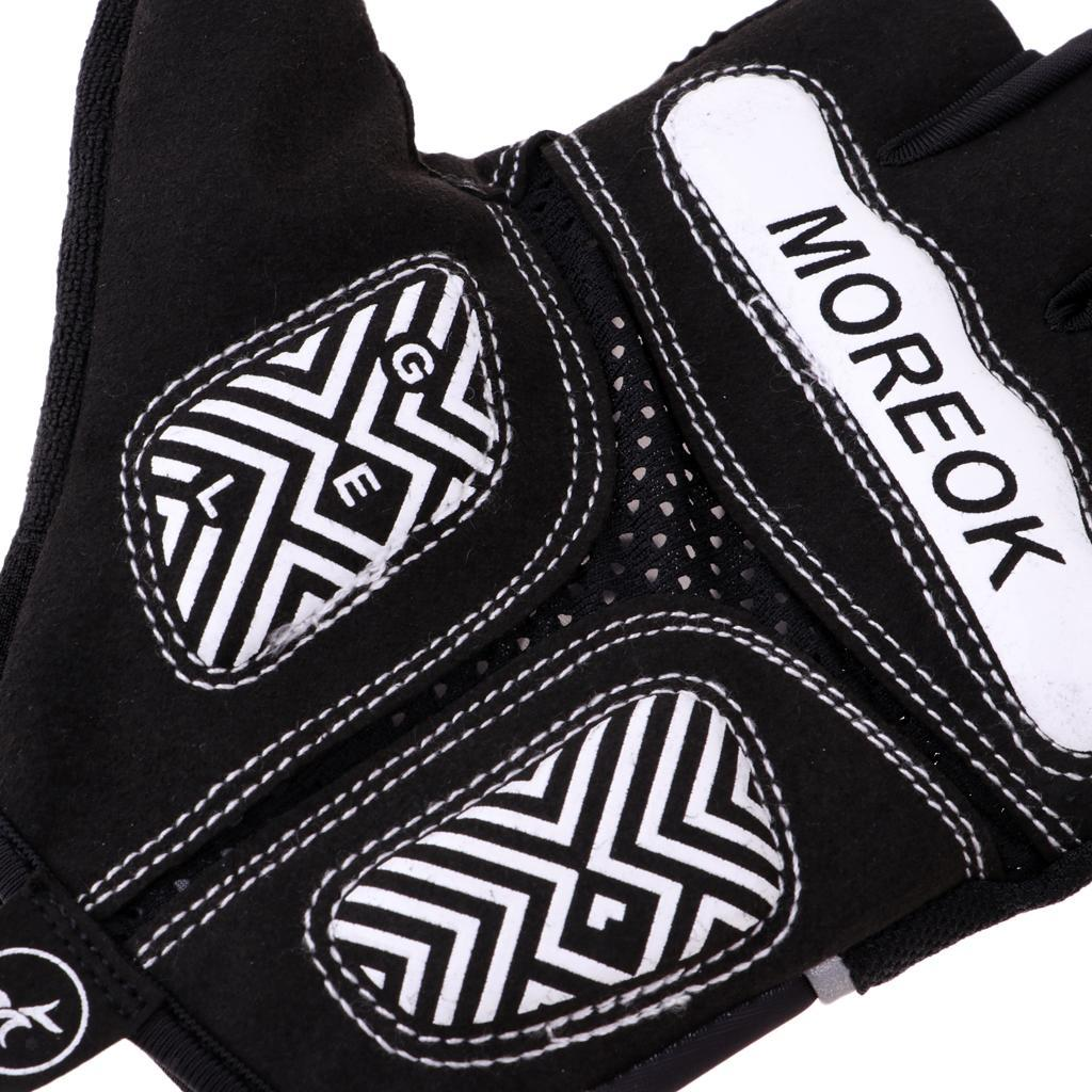 Reflective-Cycling-Gloves-Half-Finger-Gel-Padded-Bike-Bicycle-Fitness-Gloves thumbnail 6