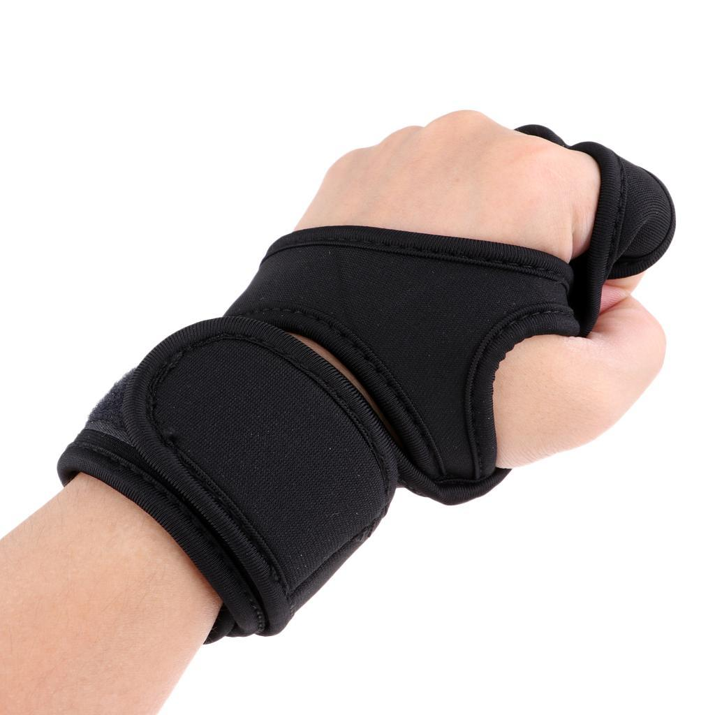 Unisex-Wrist-Support-Half-Finger-Racing-Cycling-Motorcycle-Protection-Gloves thumbnail 3