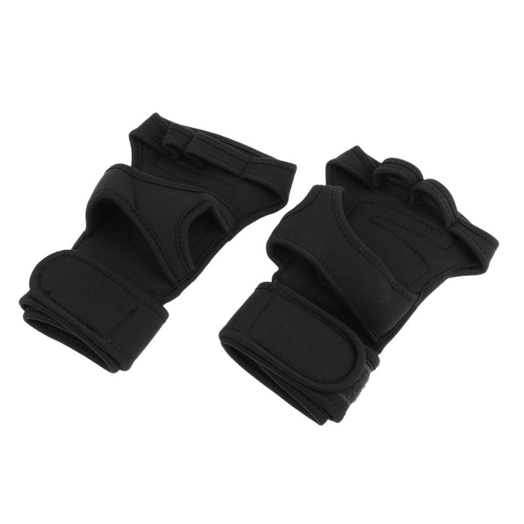 Breathable-Road-Cycling-Motorcycle-Half-Finger-Gloves-Wrist-Protection-Gear thumbnail 4
