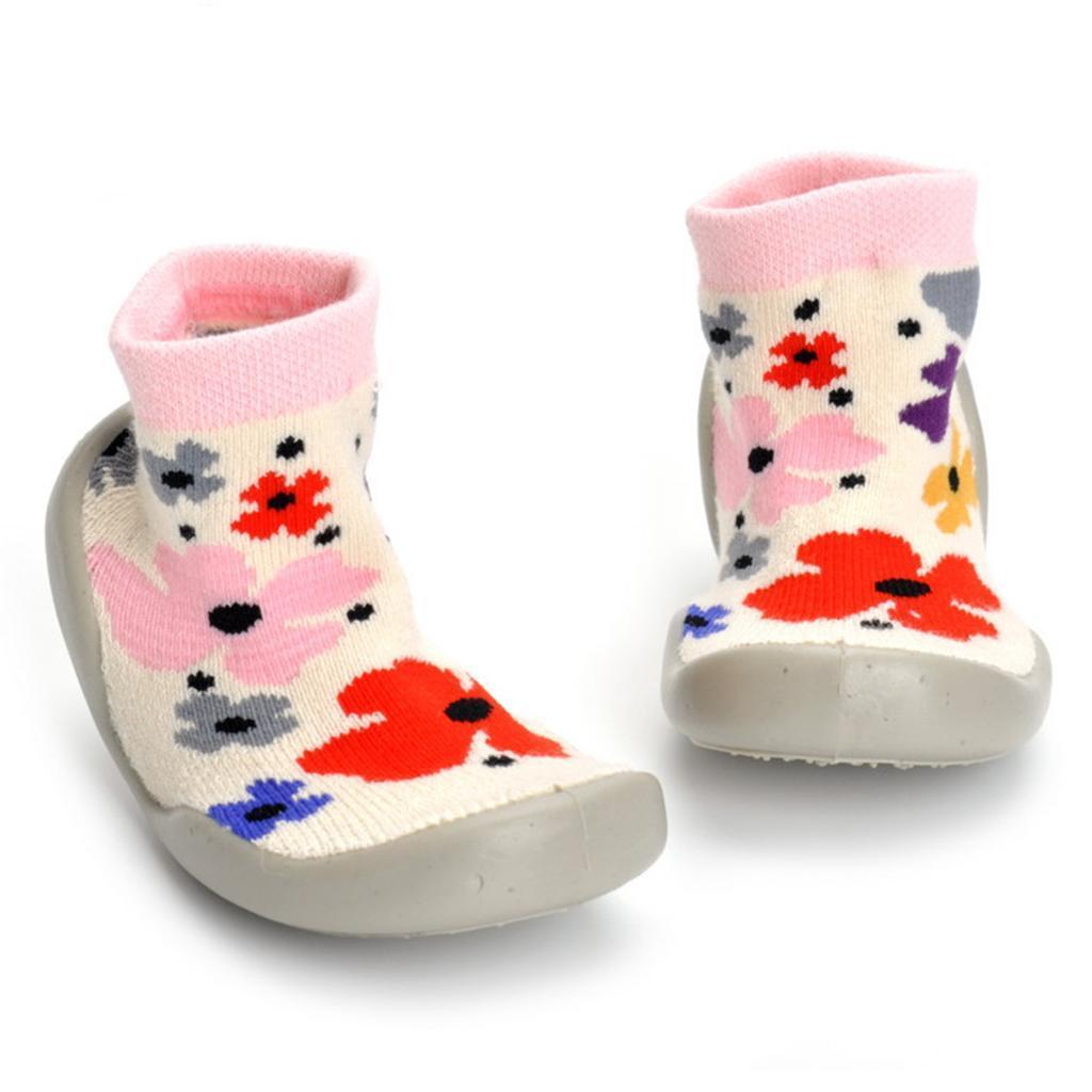 Chausson-Botte-Chaud-Garcon-Fille-Premier-pas-Imprime-Chaussure-Antiglissement miniature 3