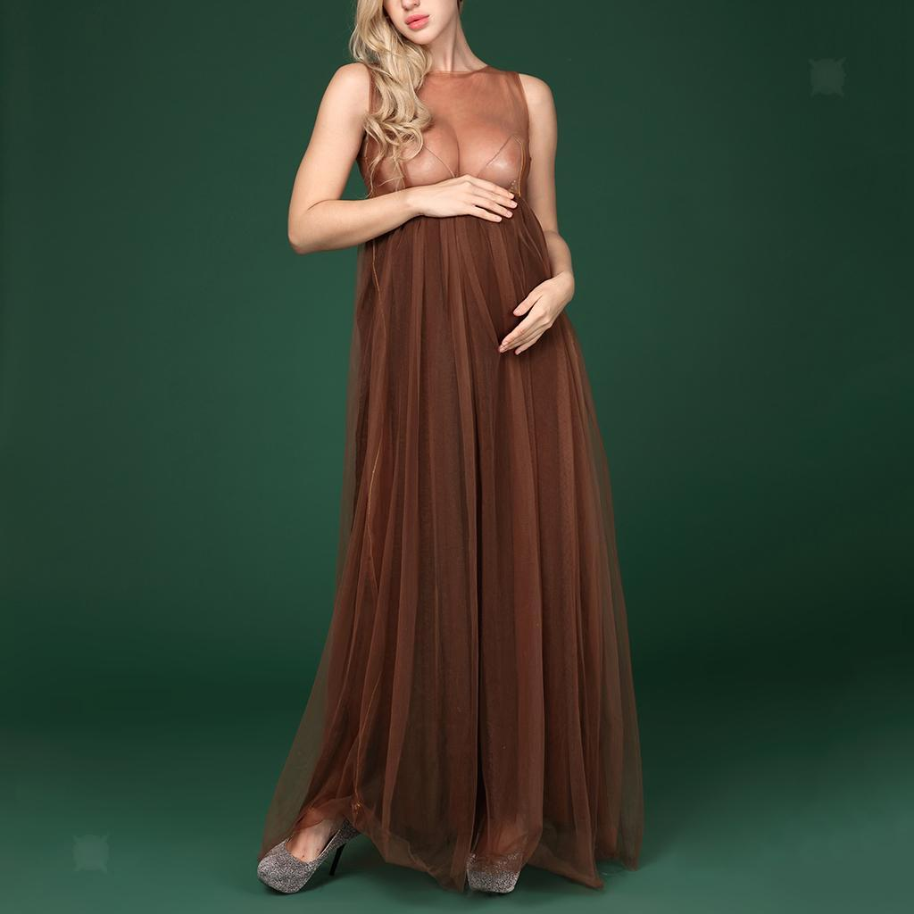 f88be24681d8b Maternity Mesh Gown Maxi Photography Dress for Pregnant Photo Shoot ...