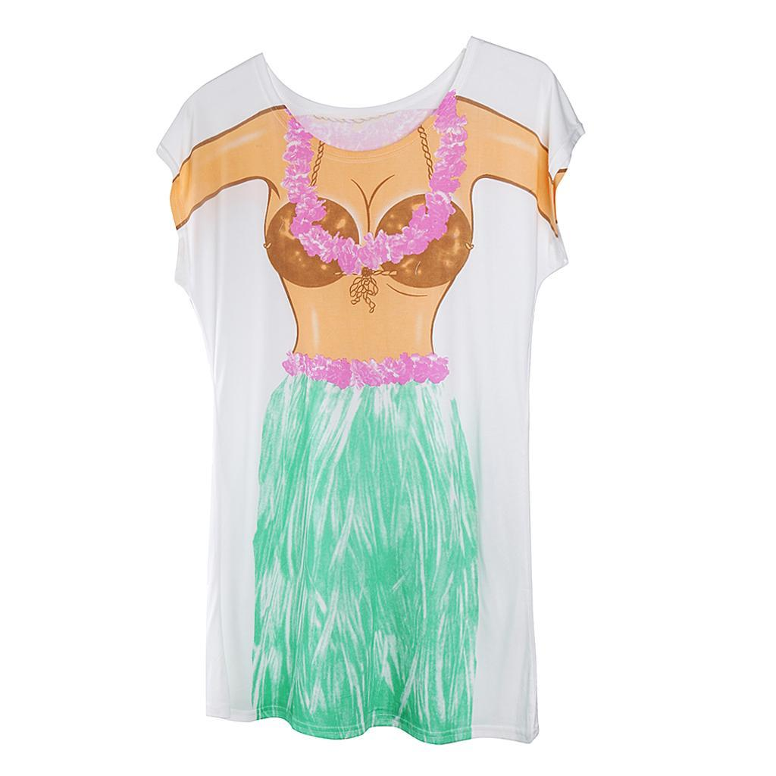 Womens-Bikini-Hawaiian-Summer-Beach-T-Shirt-Cover-Ups-Souvenir-Hen-Night-Pajamas thumbnail 57