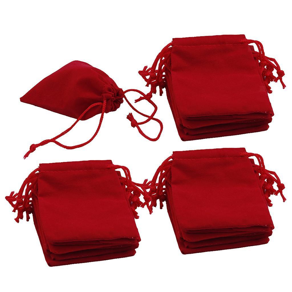 50pcs-Velours-cordon-bijoux-Sachets-Mariage-Noel-faveur-Sacs-Cadeau miniature 8