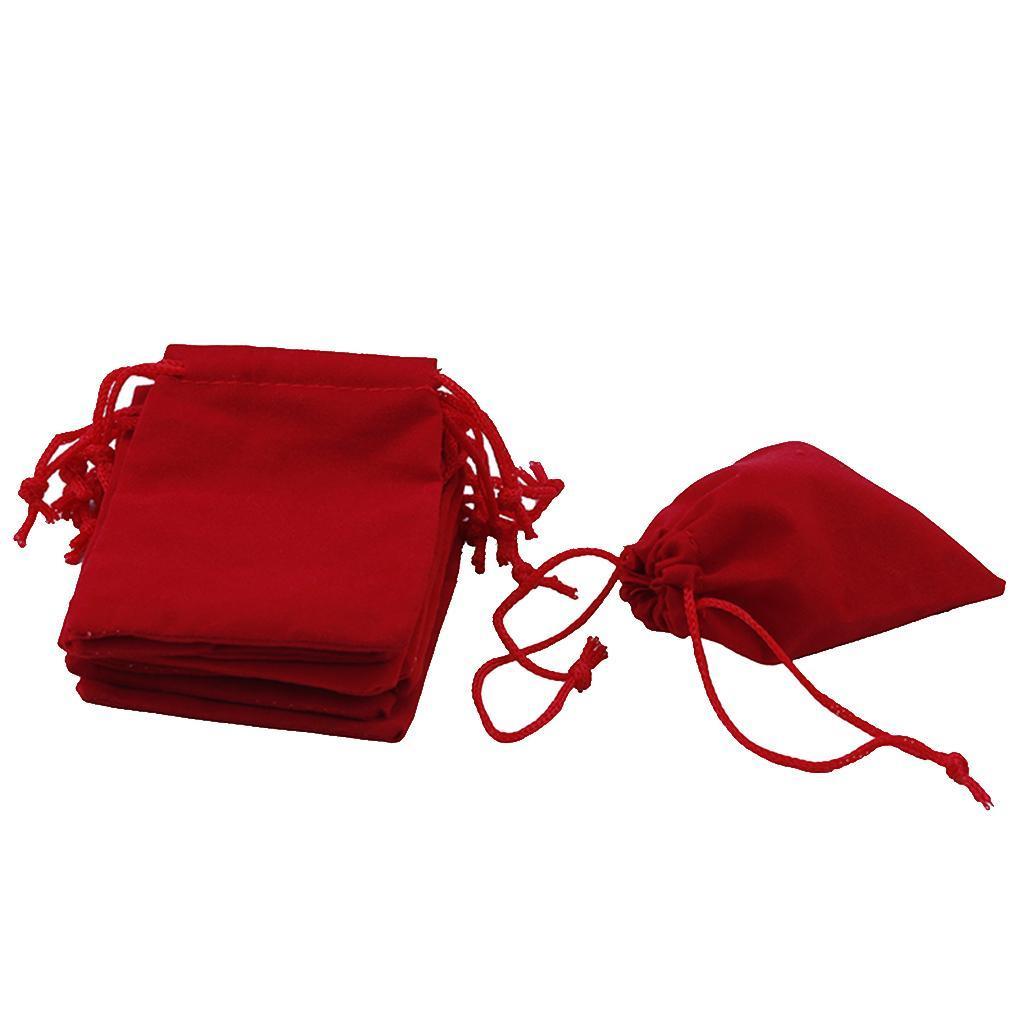 50pcs-Velours-cordon-bijoux-Sachets-Mariage-Noel-faveur-Sacs-Cadeau miniature 7