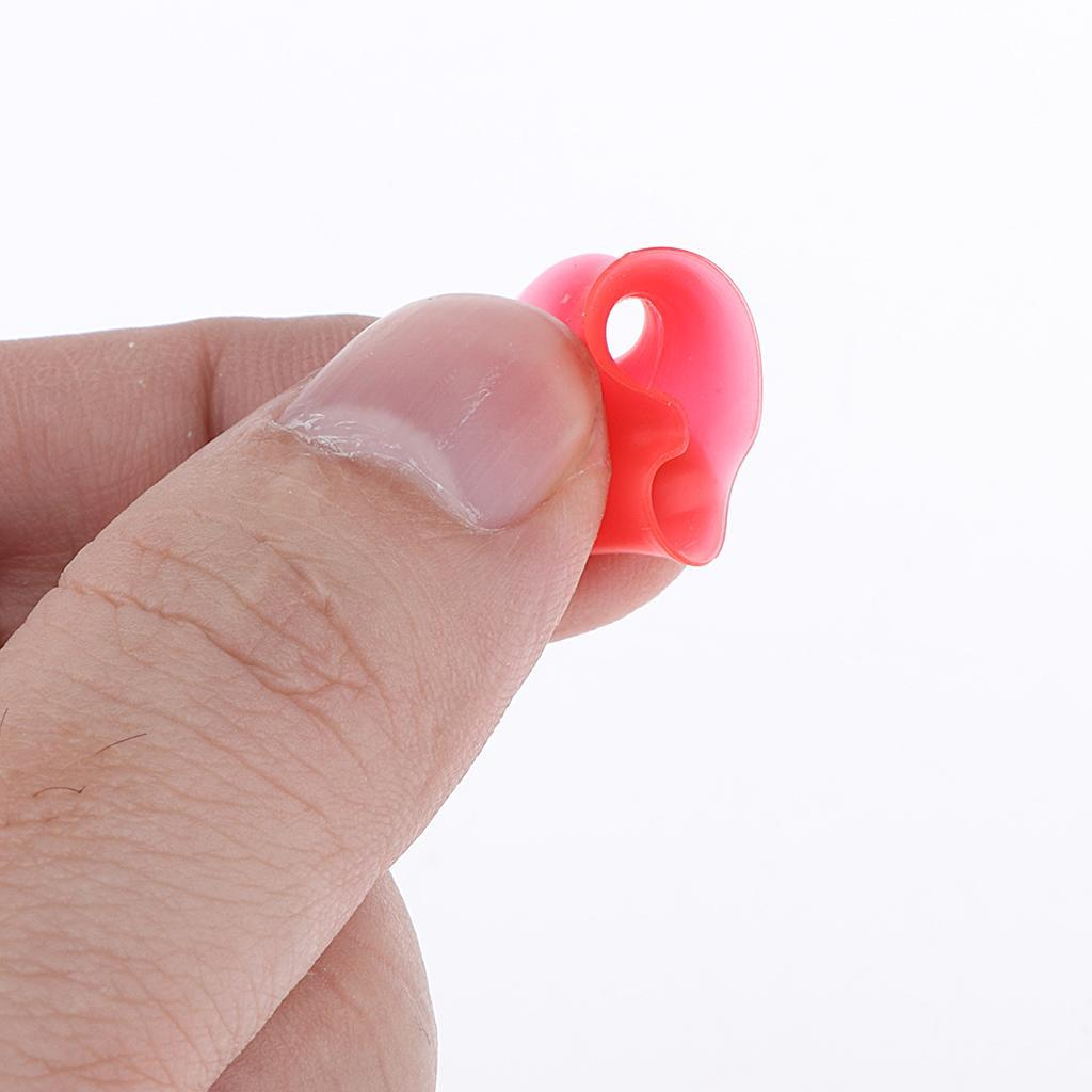10pcs-silicone-molle-solido-doppio-spine-svasate-calibro-dell-039-orecchio-che miniatura 7