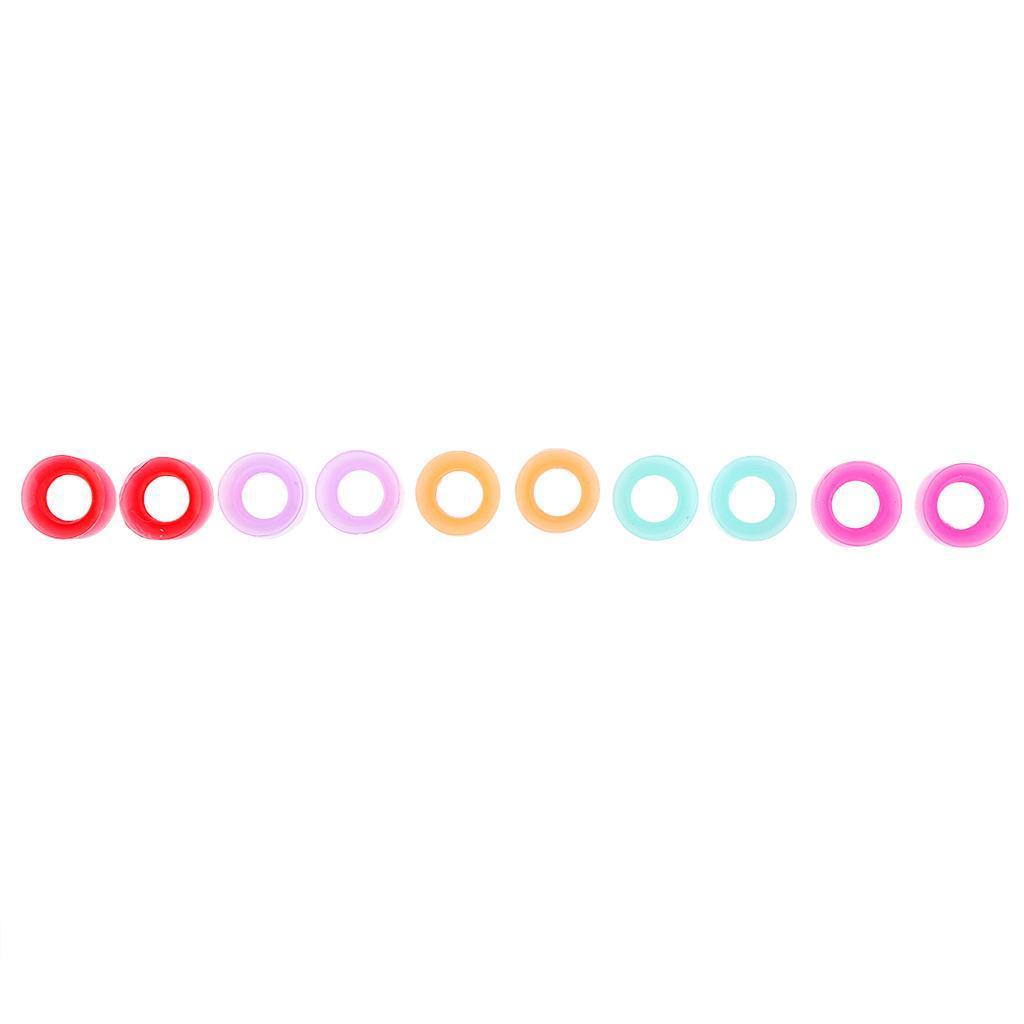 10pcs-silicone-molle-solido-doppio-spine-svasate-calibro-dell-039-orecchio-che miniatura 9