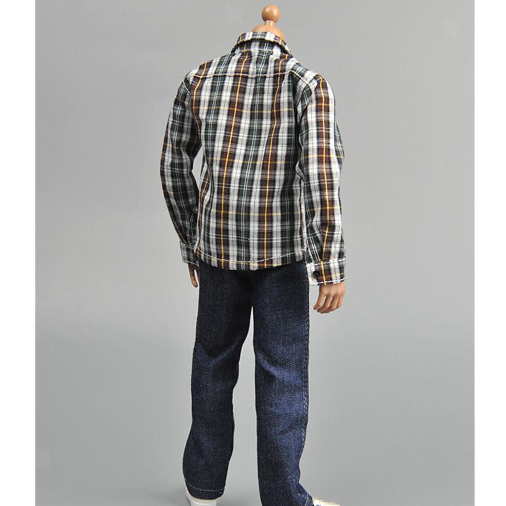 1//6 SCALA MASCHIO Action Figure Dolls Abiti casual in tela Vestiti E Scarpe Set