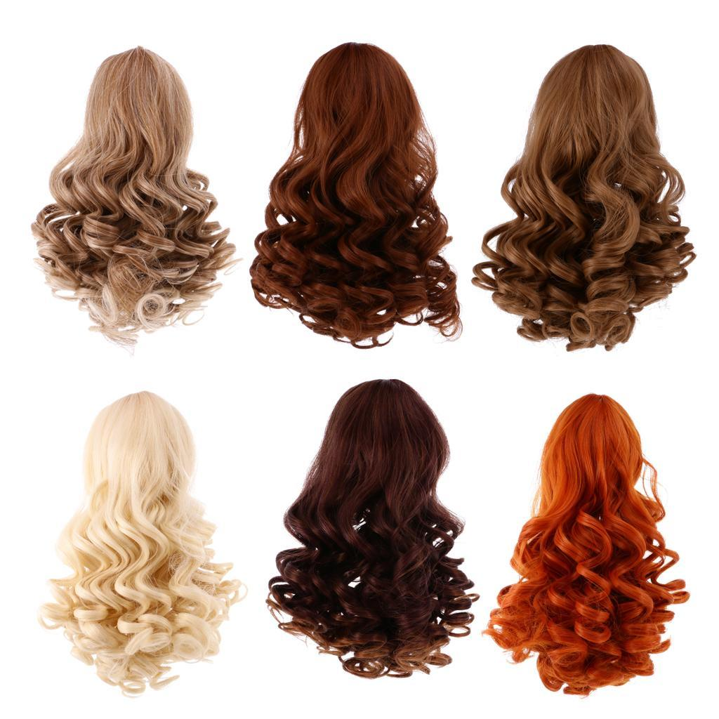Straight-Gradient-Curly-Hair-Wig-for-18-039-039-Doll-Dress-up-Accessory thumbnail 3