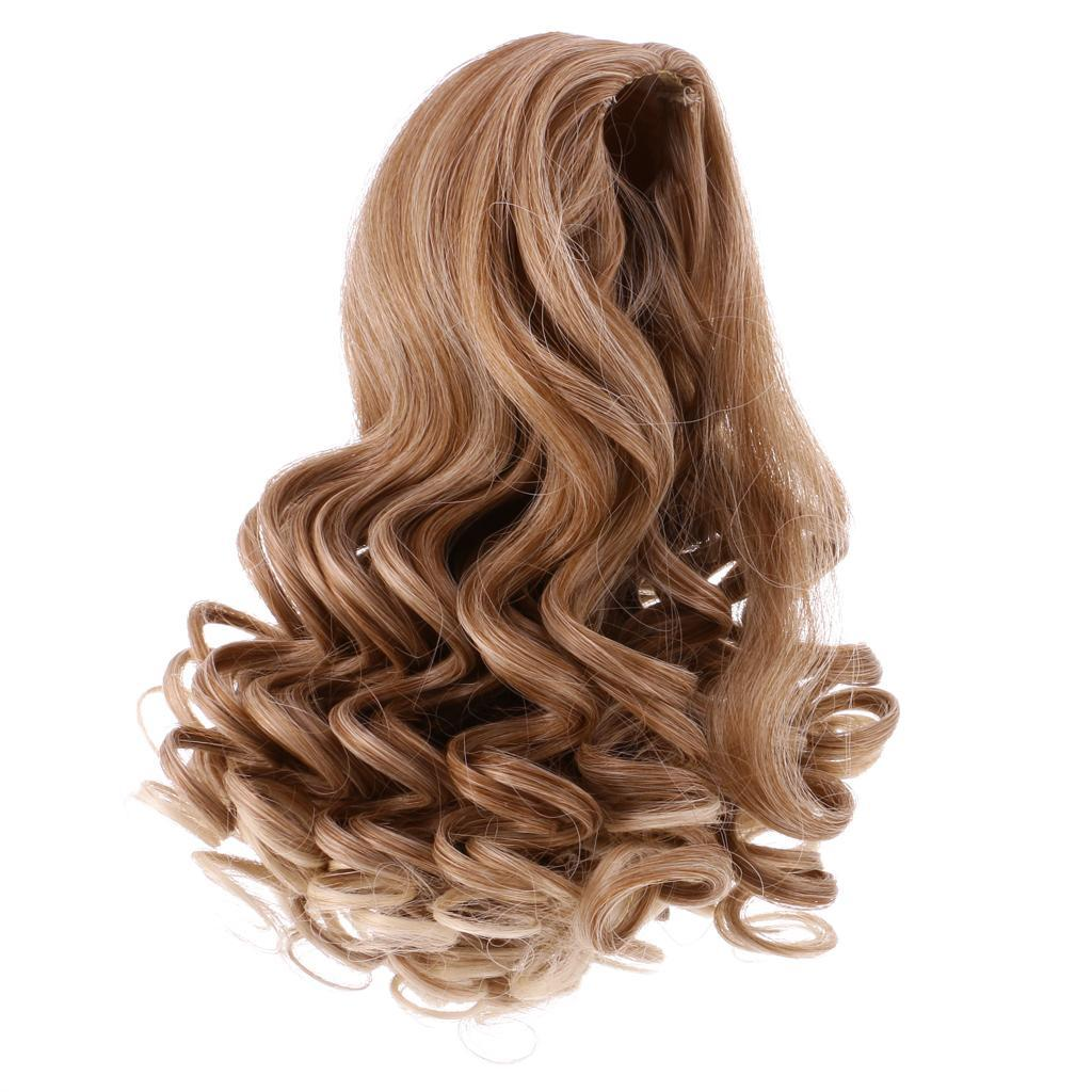 Straight-Gradient-Curly-Hair-Wig-for-18-039-039-Doll-Dress-up-Accessory thumbnail 4