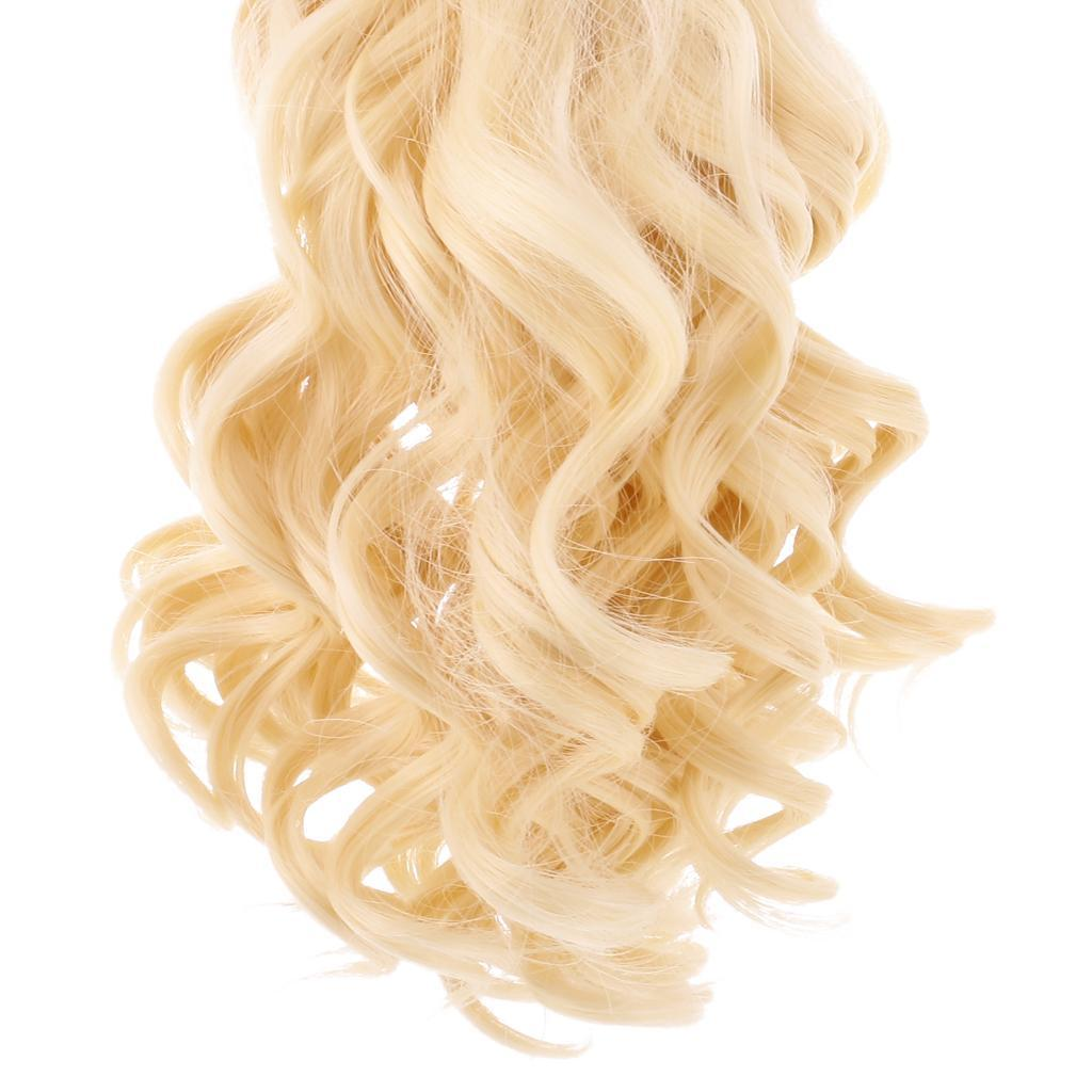 Straight-Gradient-Curly-Hair-Wig-for-18-039-039-Doll-Dress-up-Accessory thumbnail 26