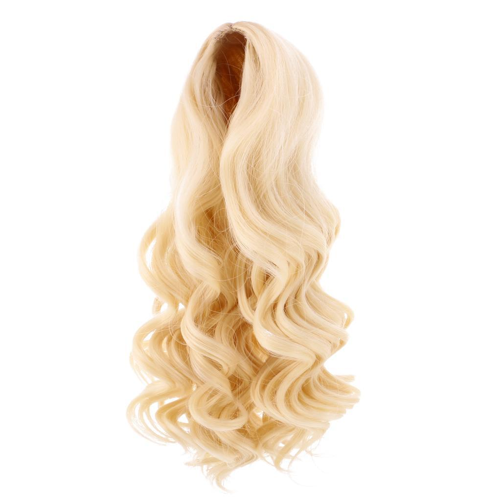 Straight-Wavy-Curly-Hair-Wig-for-18-039-039-Dolls-Clothes-Accessories thumbnail 24