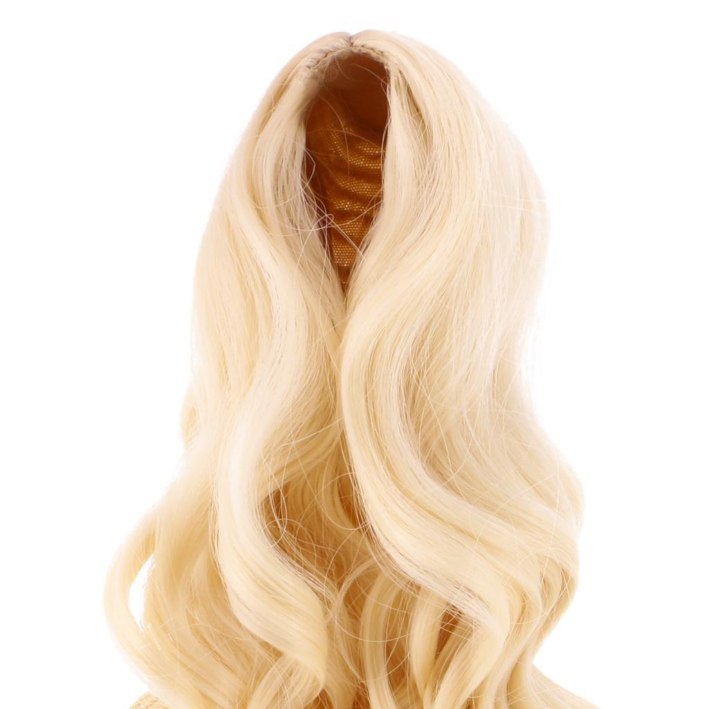 Straight-Wavy-Curly-Hair-Wig-for-18-039-039-Dolls-Clothes-Accessories thumbnail 25