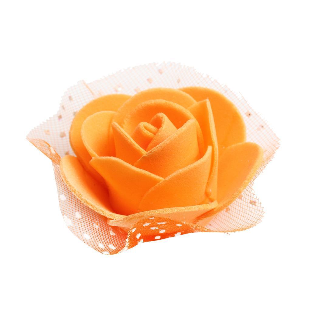 100-Pieces-Romantique-Mousse-Artificielle-Rose-Tete-Fleurs-De-Mariage miniature 6