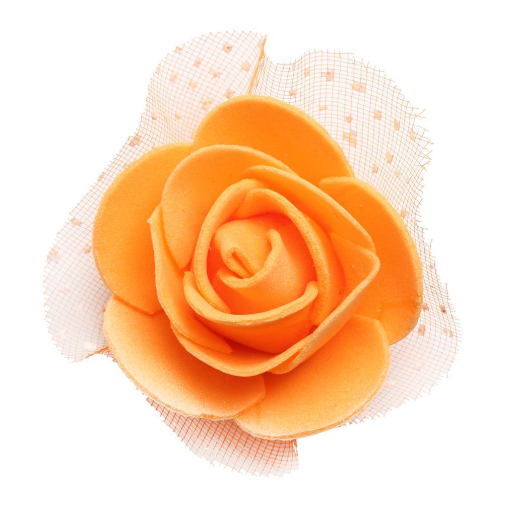 100-Pieces-Romantique-Mousse-Artificielle-Rose-Tete-Fleurs-De-Mariage miniature 5