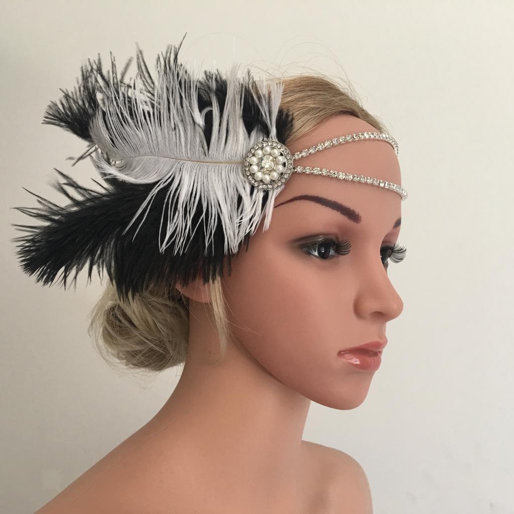 Bandeau-Cheveux-Serre-tete-Femme-Accessoire-de-Cheveux-Fantasie-Decor miniature 4