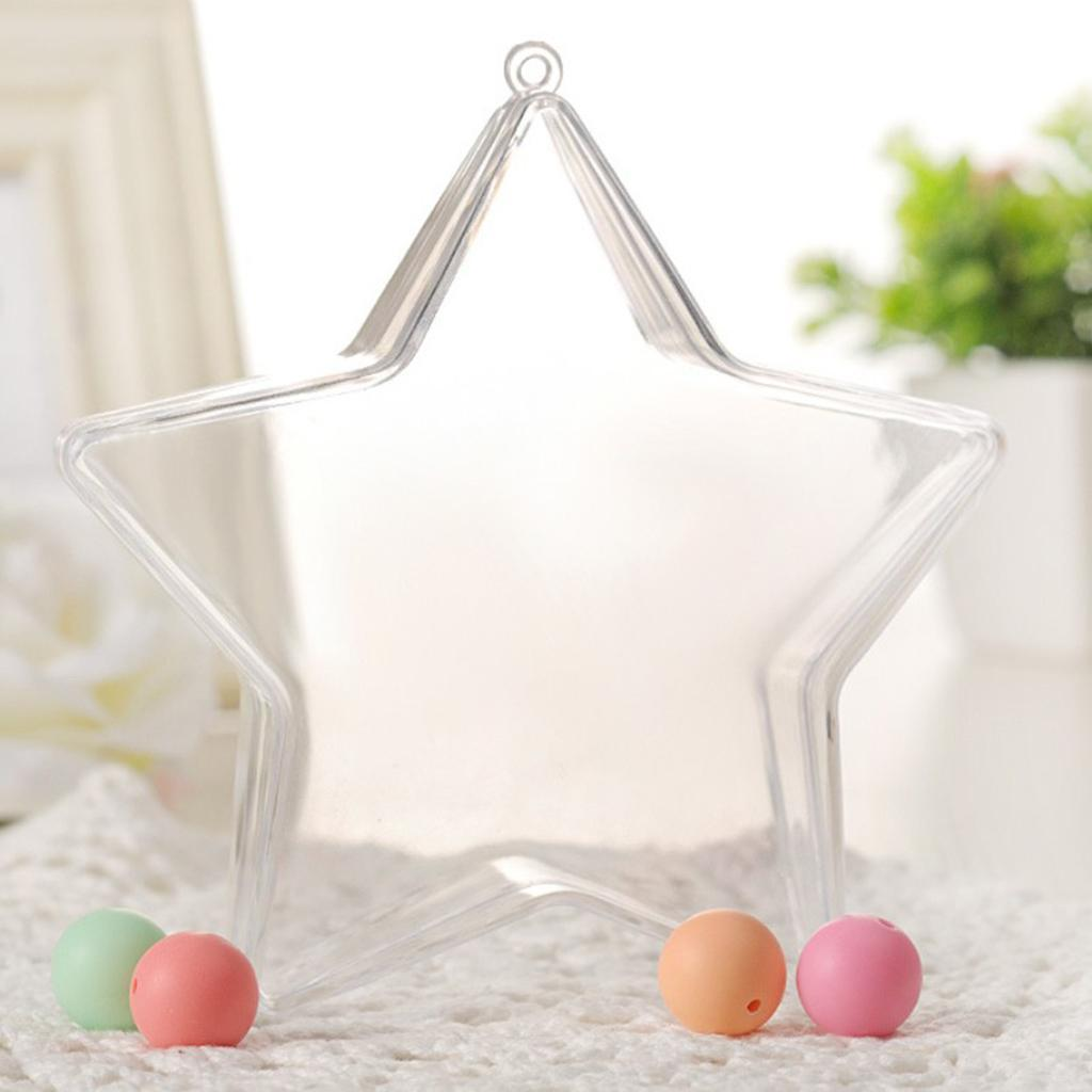 Clear-Plastic-Fillable-Star-Ball-Sphere-Ornament-Hanging-Decorations-DIY-Craft thumbnail 10