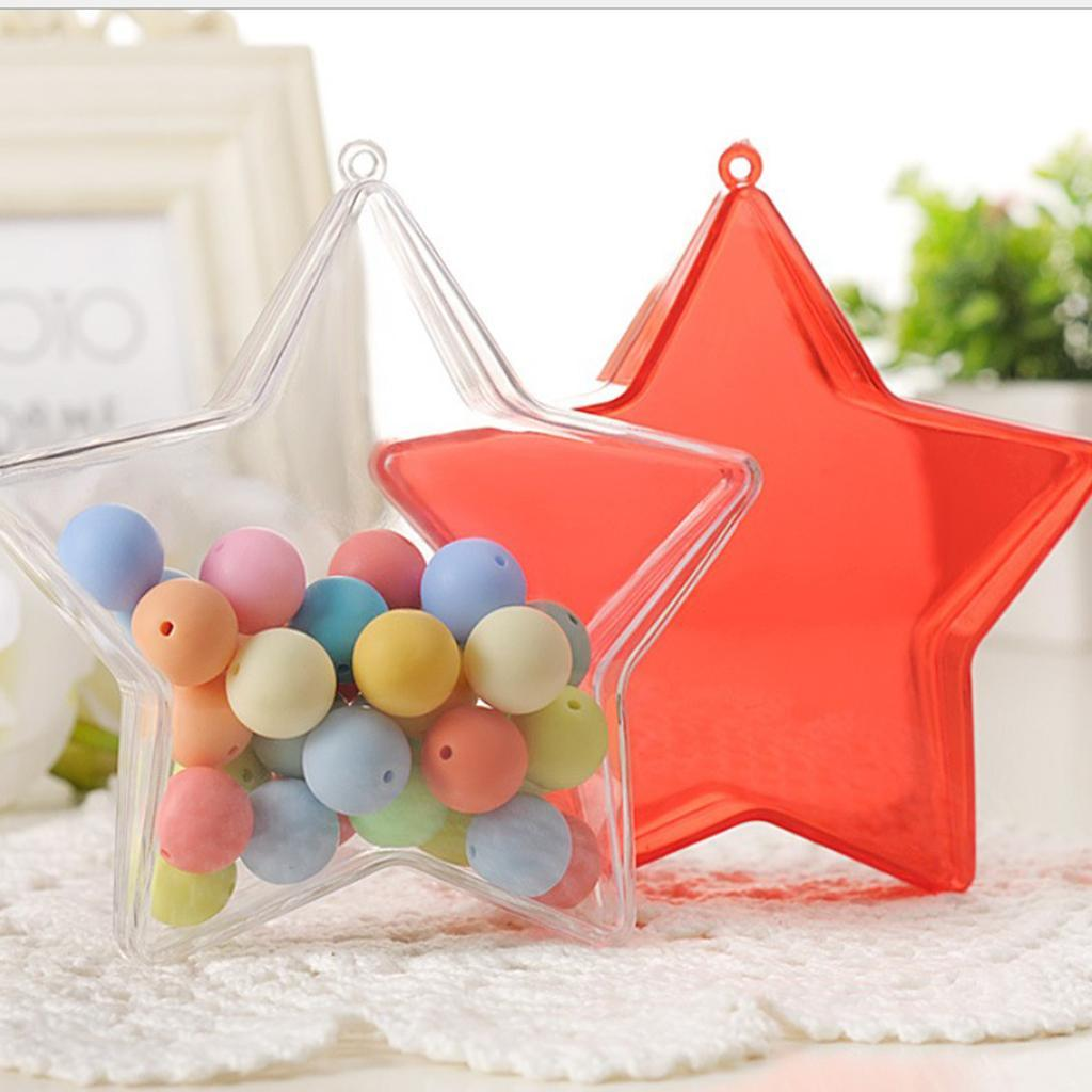 Clear-Plastic-Fillable-Star-Ball-Sphere-Ornament-Hanging-Decorations-DIY-Craft thumbnail 3