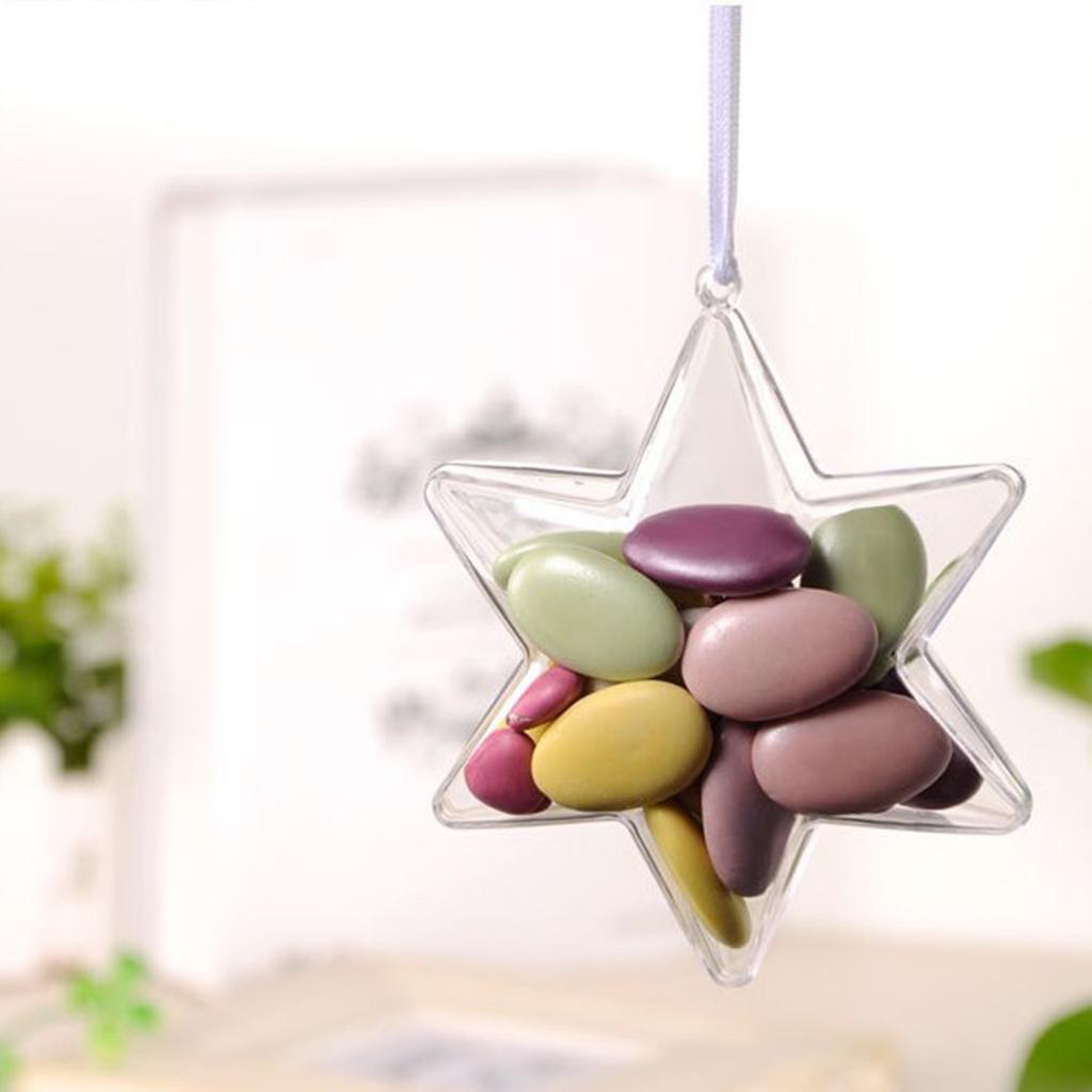 Clear-Plastic-Fillable-Star-Ball-Sphere-Ornament-Hanging-Decorations-DIY-Craft thumbnail 8