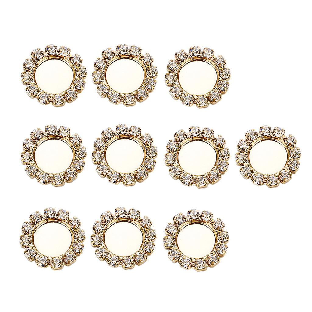 10x Sparkle Fashion Jewelry Base Cabochon Settings Support DIY Settings 8mm Gold Color