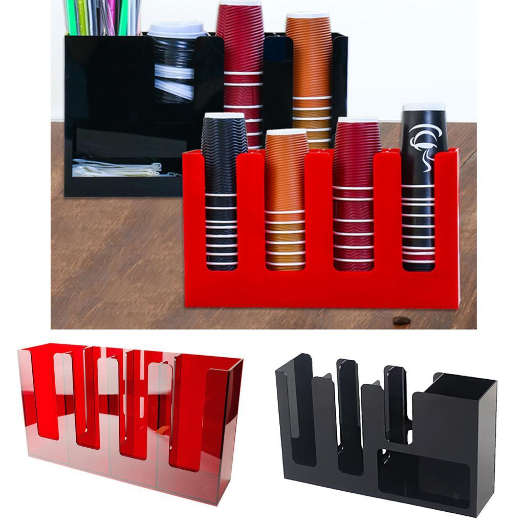 Vertical Coffee Cup and Lid Dispenser Countertop Caddy Organizer Station | eBay