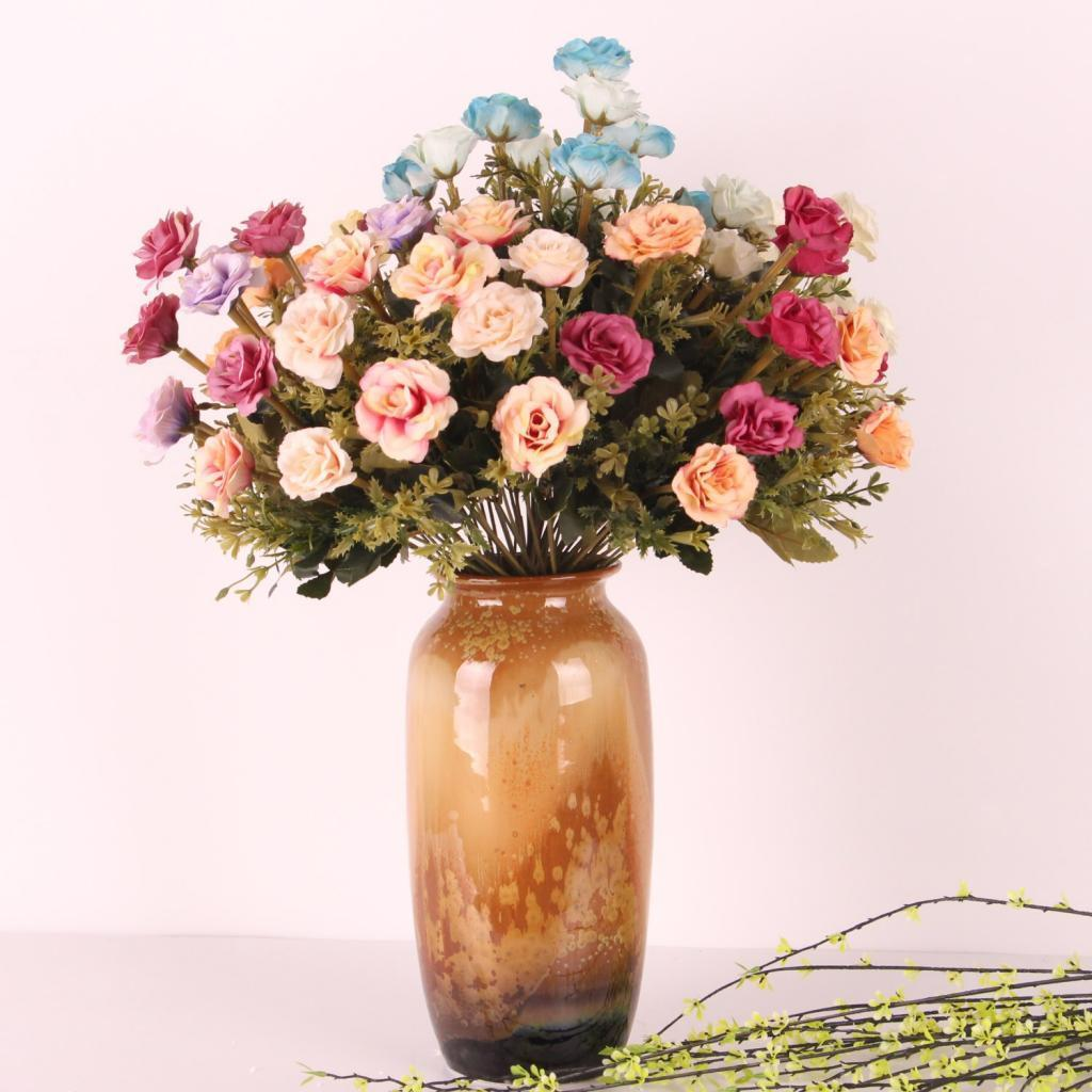 Silk Flower Bouquets Do Yourself: 6 Colors Artificial Lotus Bouquet Great For DIY Flower