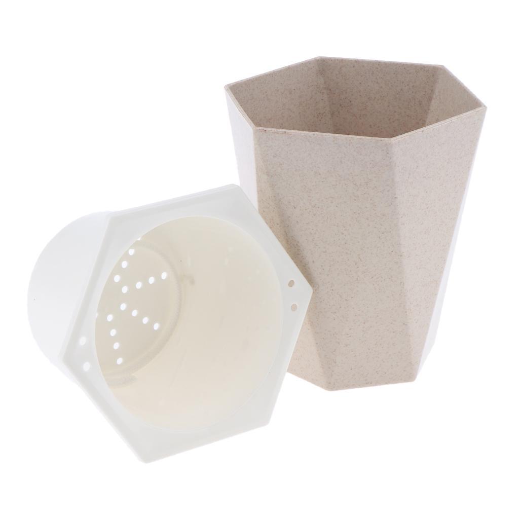 Plastic Garden Nursery Lazy Pots Flowerpot Self-watering Planter Container Gift