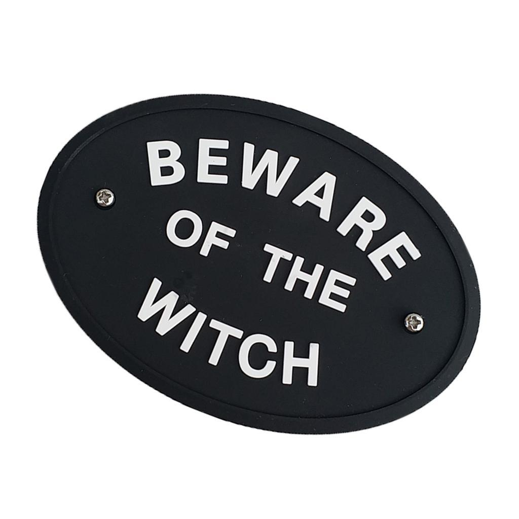 BEWARE-OF-THE-WITCH-WALL-SIGN-Plaque-for-Home-Decor-Mount-to-Door-or-Wall thumbnail 3