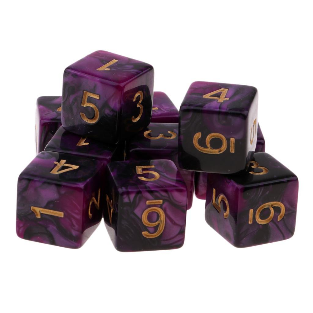 10pcs-D6-16mm-Dice-for-Friends-Family-Travel-Board-Games-Gifts thumbnail 9