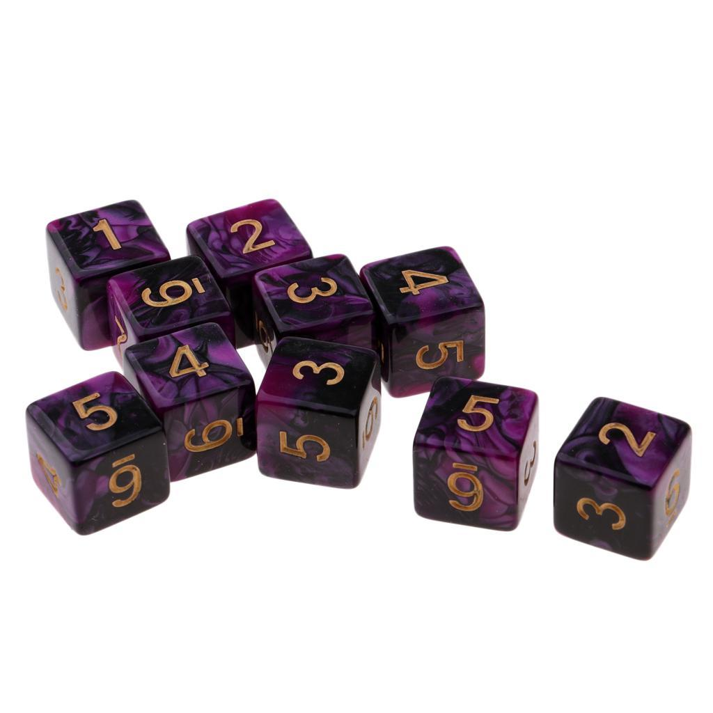 10pcs-D6-16mm-Dice-for-Friends-Family-Travel-Board-Games-Gifts thumbnail 10