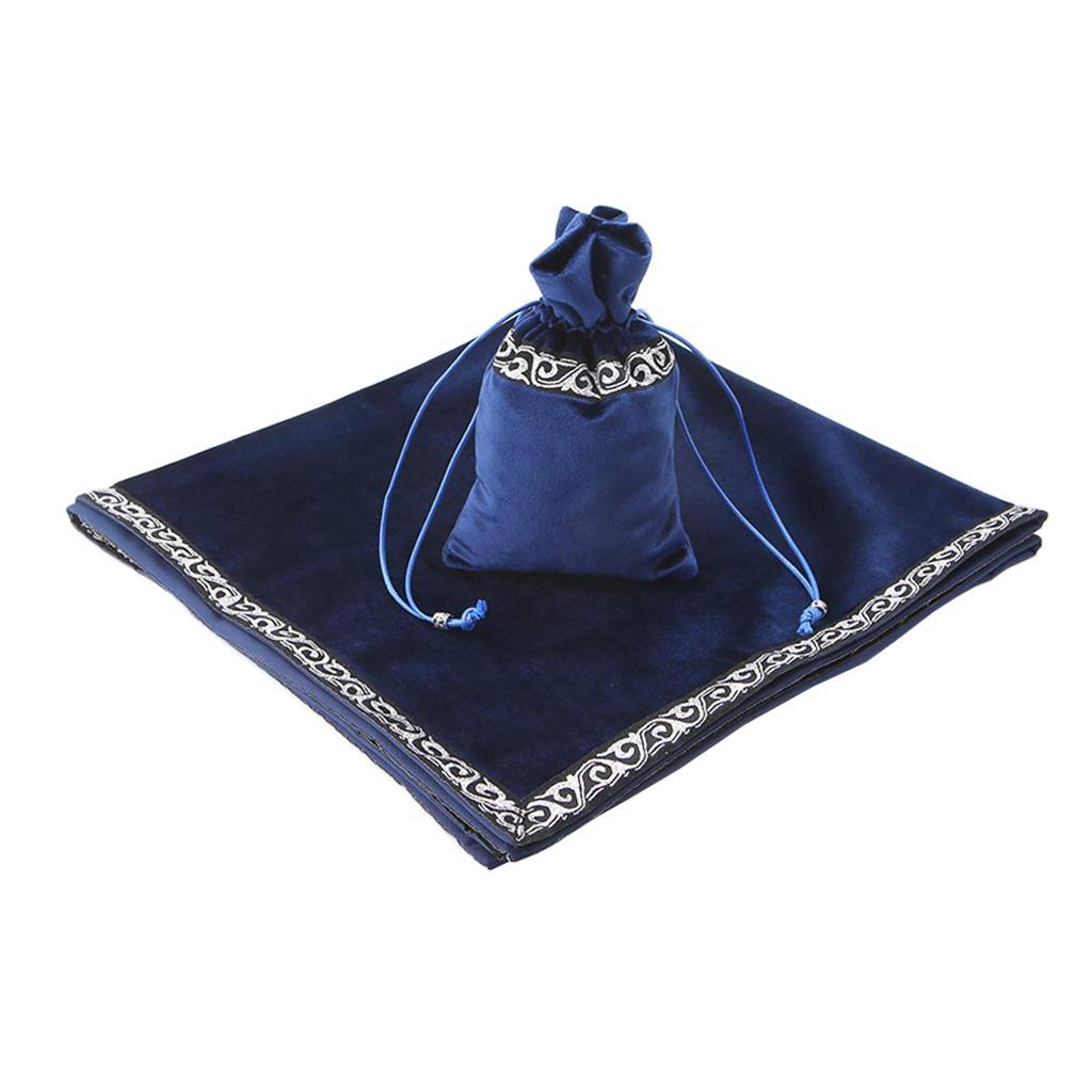 Altar-Tarot-Table-Cloth-W-Divination-Cards-Bag-Wicca-Tablecloth-Pouch miniatura 6
