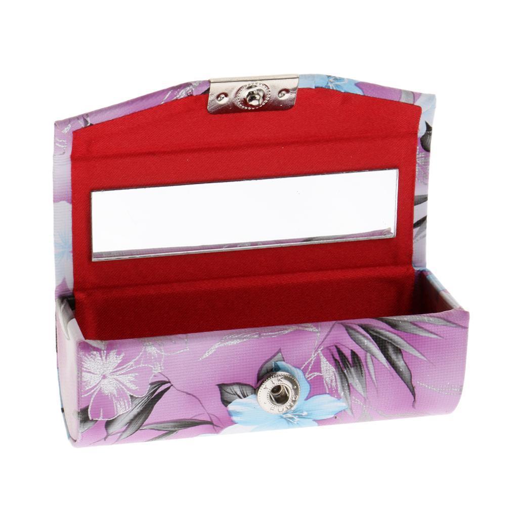 Custodia-in-pelle-per-rossetto-Borsa-per-organizer-per-borsa-Porta miniatura 17