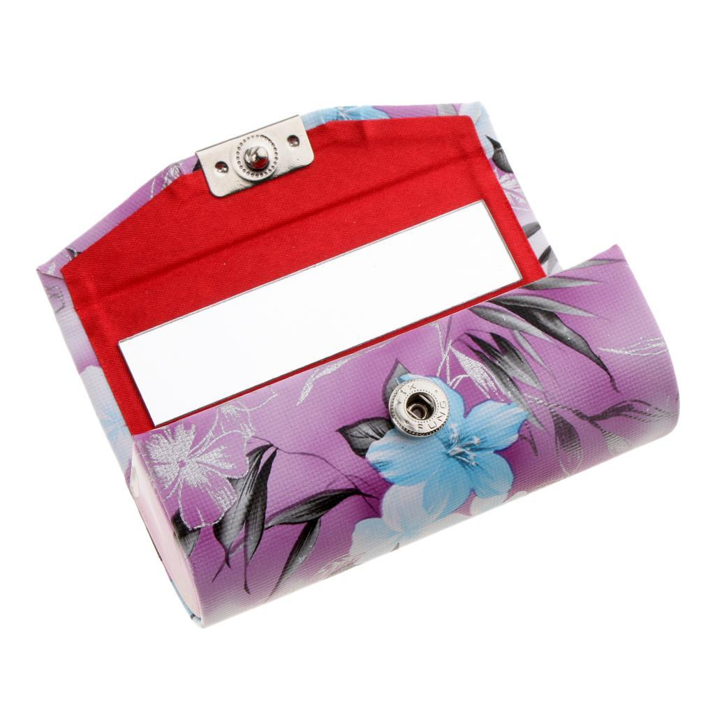 Custodia-in-pelle-per-rossetto-Borsa-per-organizer-per-borsa-Porta miniatura 18