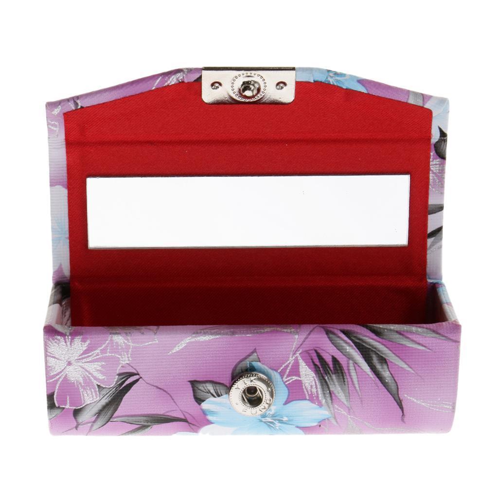 Custodia-in-pelle-per-rossetto-Borsa-per-organizer-per-borsa-Porta miniatura 15