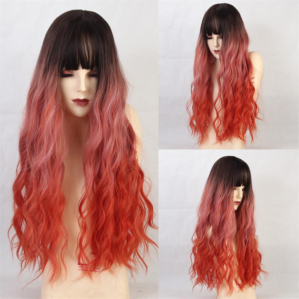 26-034-Natural-Looking-Curly-Cosplay-Women-Hair-Wigs-w-Bangs-for-Dating-Party thumbnail 12