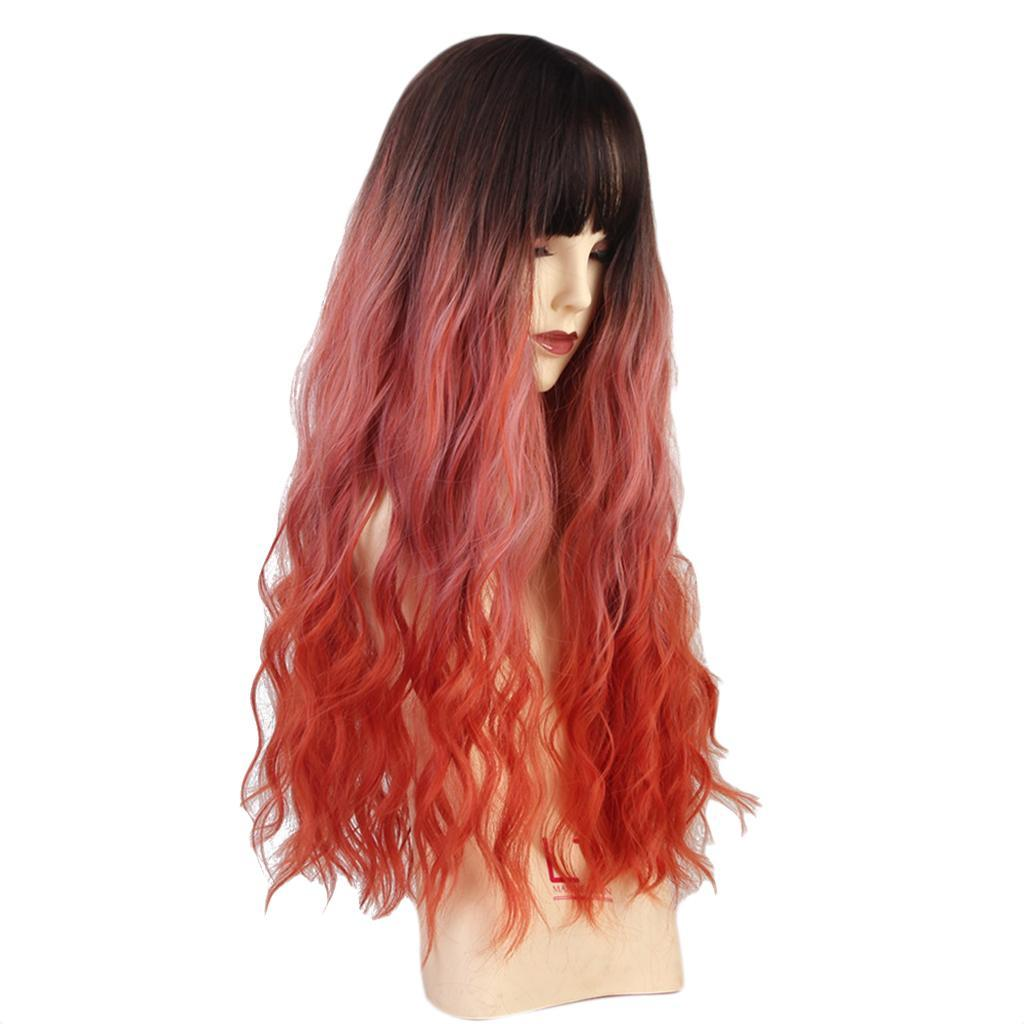 26-034-Natural-Looking-Curly-Cosplay-Women-Hair-Wigs-w-Bangs-for-Dating-Party thumbnail 5