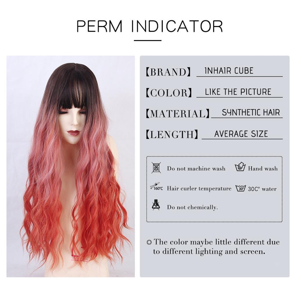 26-034-Natural-Looking-Curly-Cosplay-Women-Hair-Wigs-w-Bangs-for-Dating-Party thumbnail 11