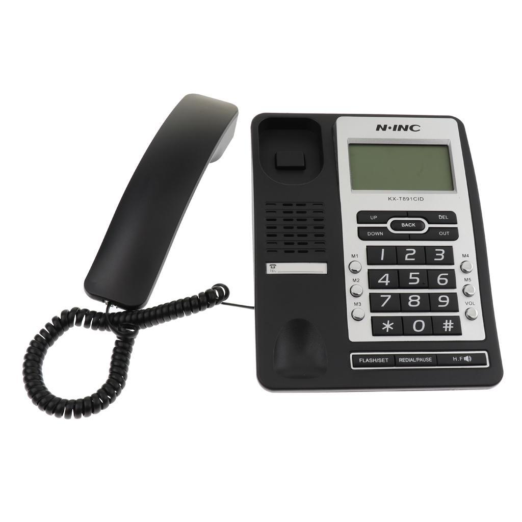 Landline Phone Corded Home Office Hotel Desk Telephone LCD