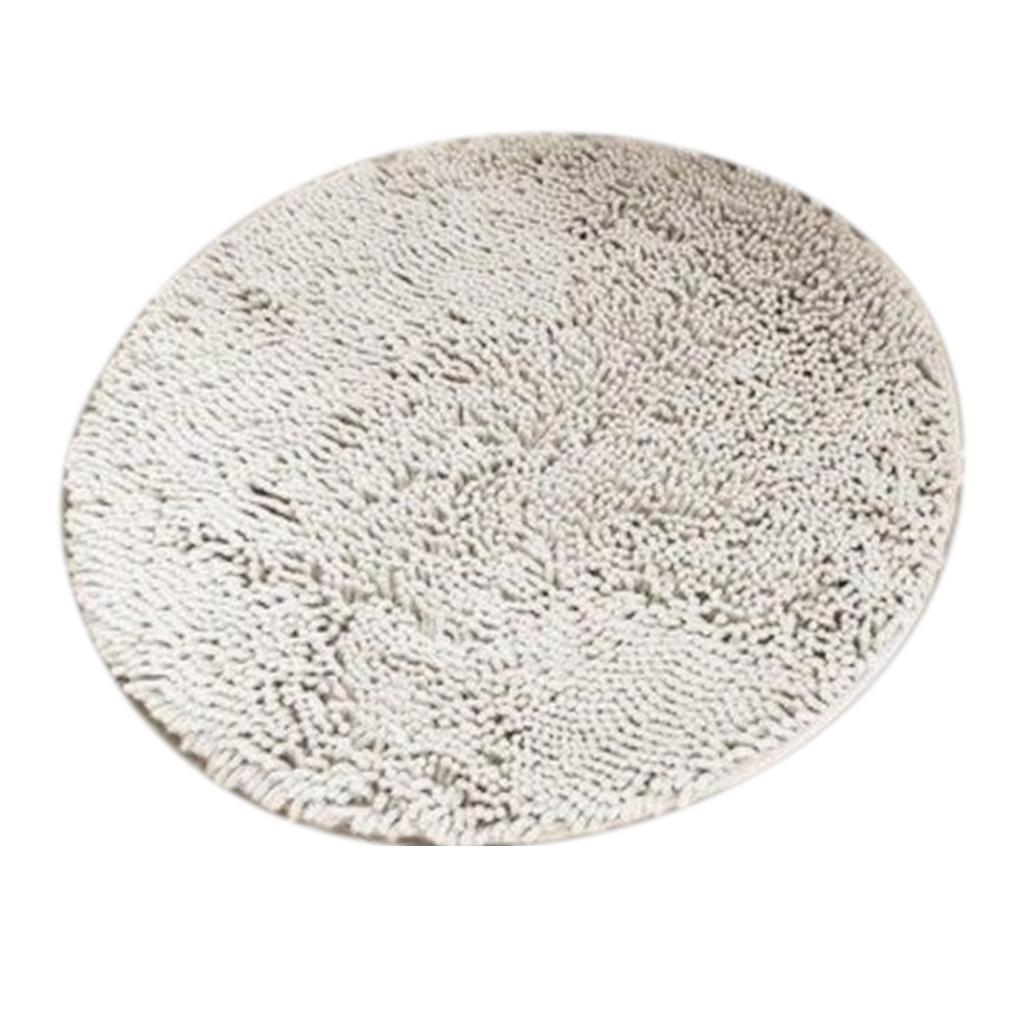 Détails sur Tapis absorbant de tapis de salle de bains Shaggy anti-dérapant  rond