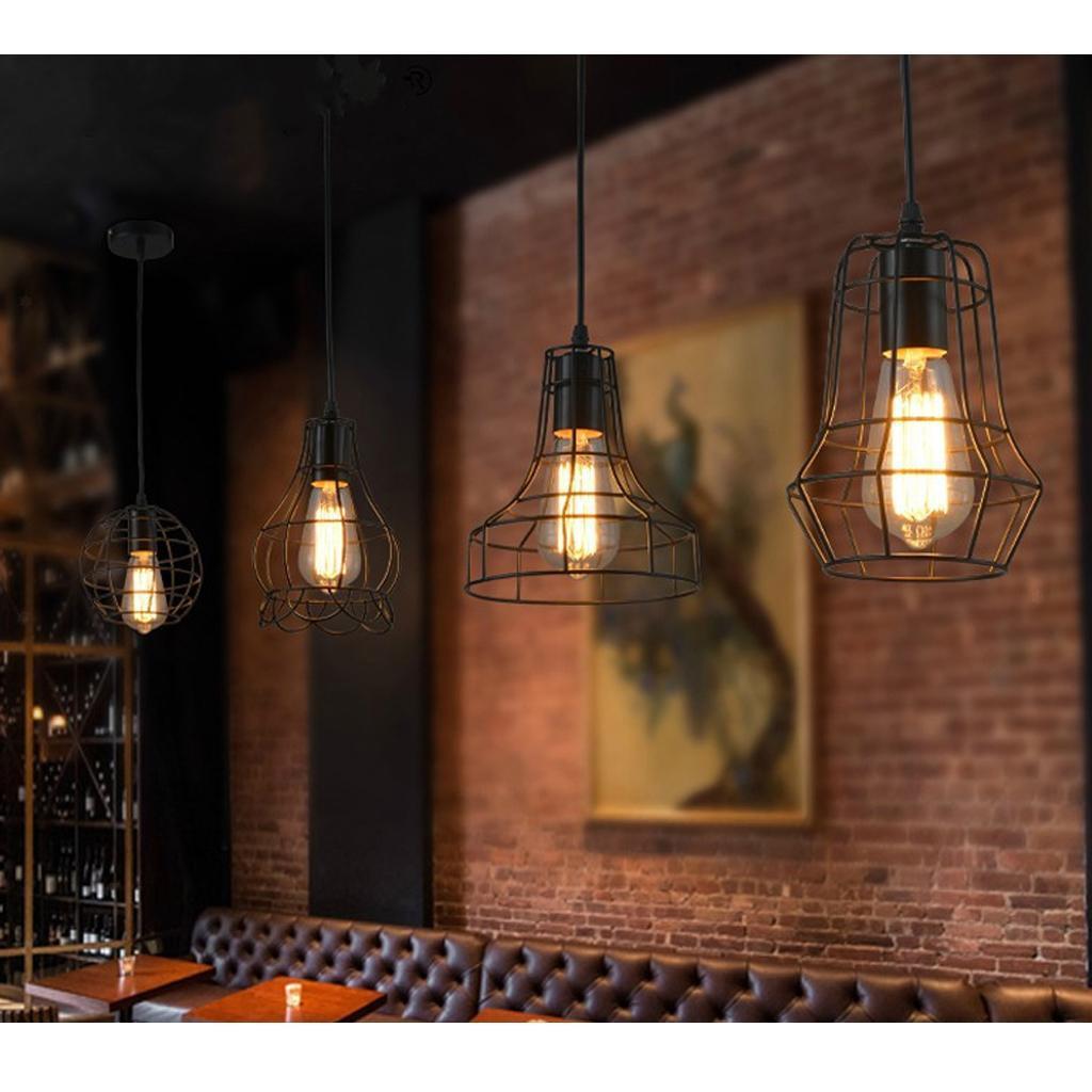E27-Metal-Lampshade-Ceiling-Vintage-Retro-Chandelier-Fitting-LED-Pendant-Light thumbnail 6