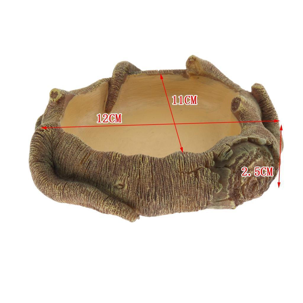 Tartaruga-in-resina-Ciotola-in-terrina-Bacino-rettile-Vivarium-Tartaruga miniatura 6