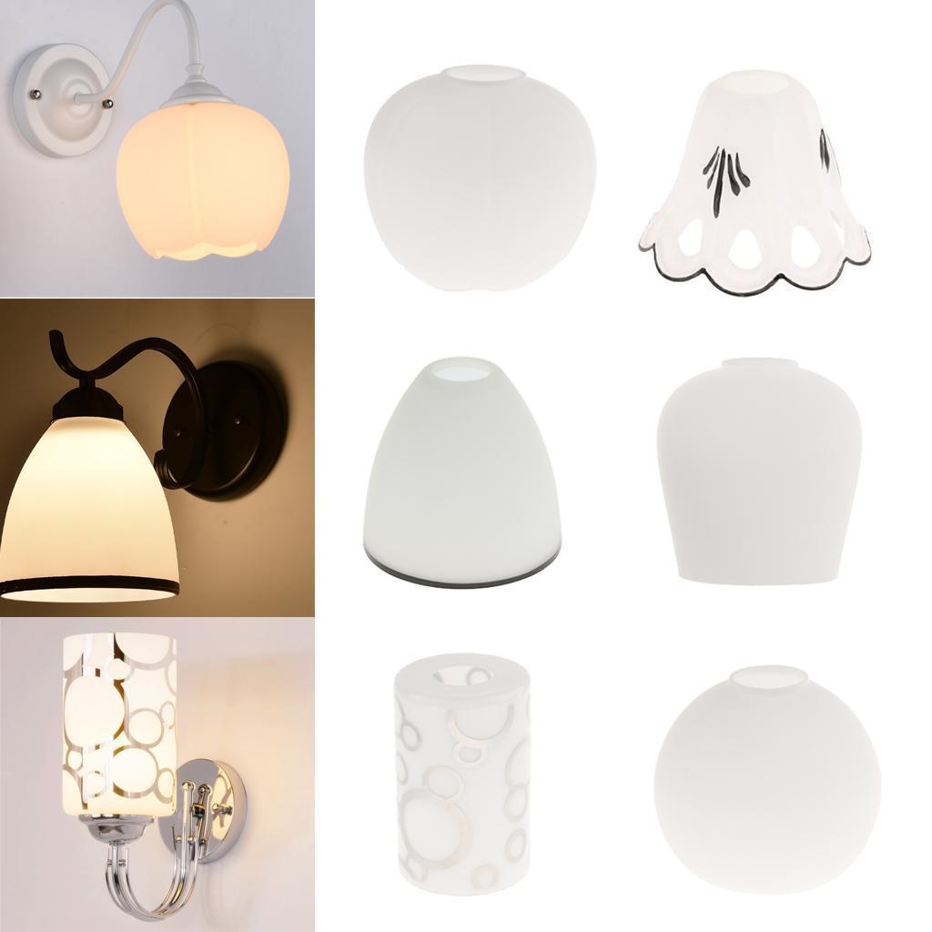 E27-Light-Holder-Replacement-White-Glass-Light-Shade thumbnail 3