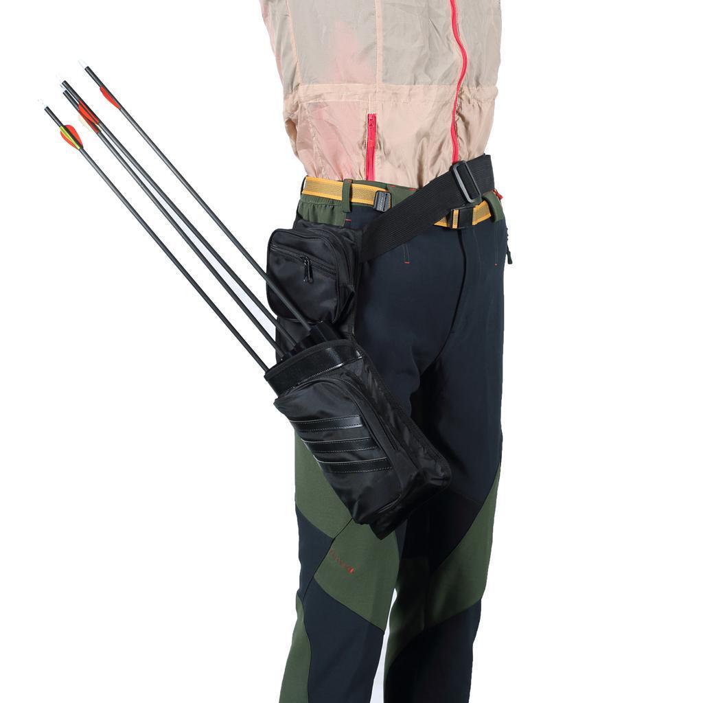 Archery-4-Tube-Camo-Arrow-Quiver-Holder-Belt-Waist-Bow-Hunting thumbnail 10