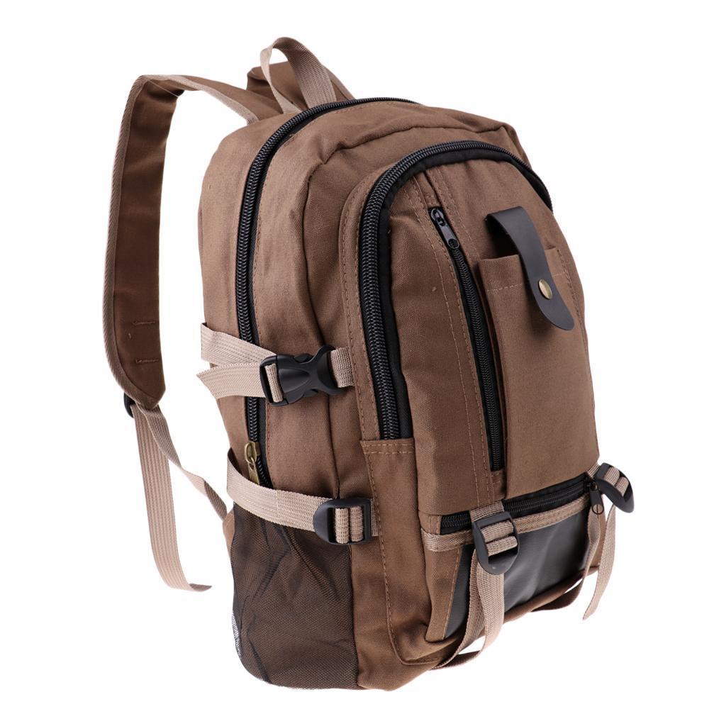 Sac-a-dos-En-Toile-Sac-D-039-ordinateur-Portable-Cartable-Pack-De-Sport-En miniature 19