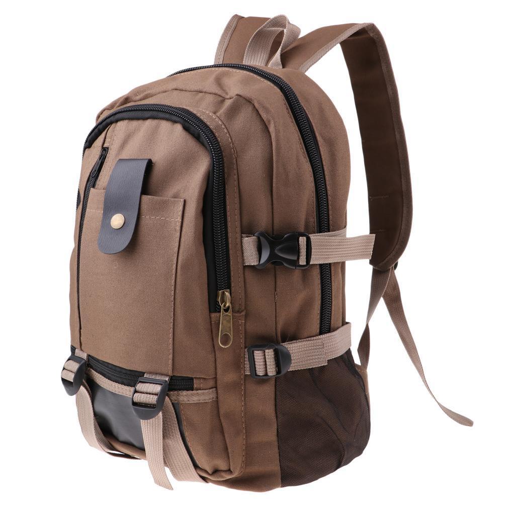 Sac-a-dos-En-Toile-Sac-D-039-ordinateur-Portable-Cartable-Pack-De-Sport-En miniature 18