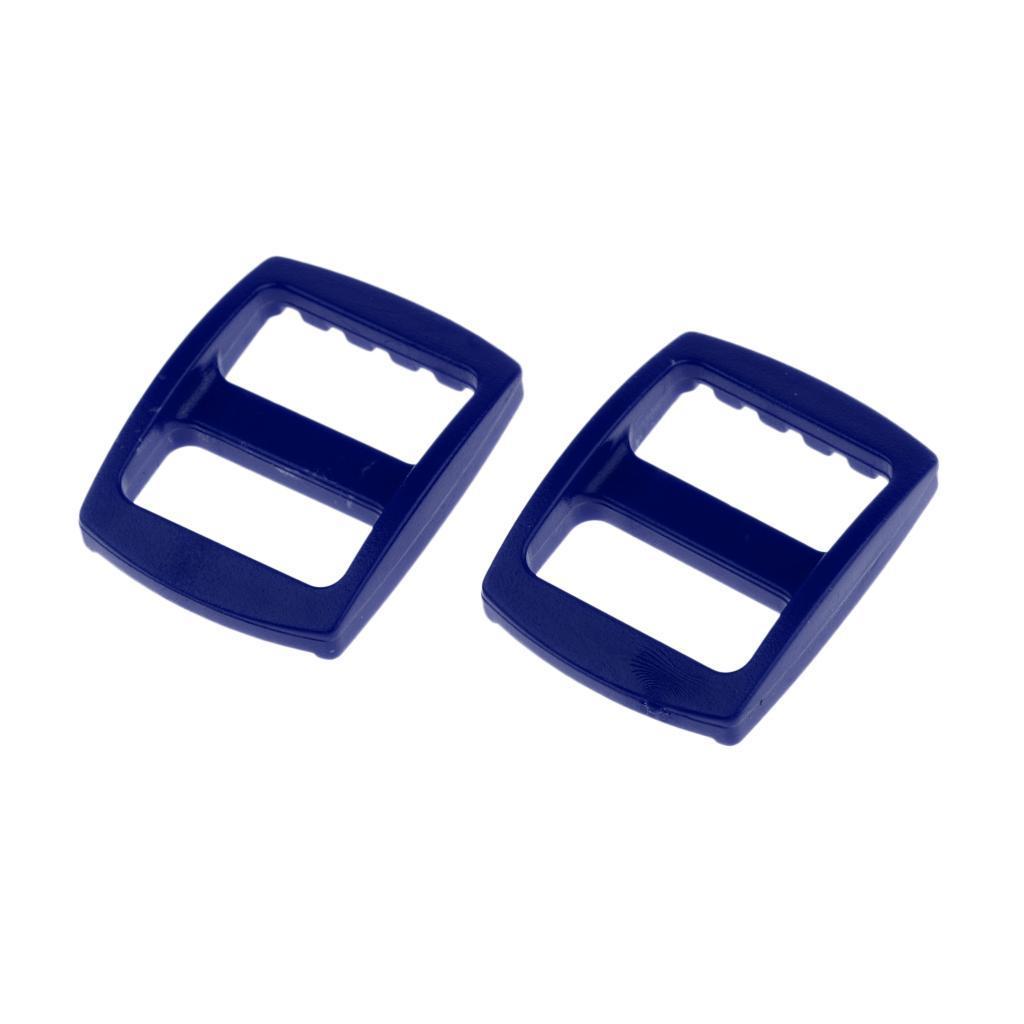 20-Pezzi-di-Fibbia-a-Tessitura-Webbing-Buckle-Accessori-di-Campeggio miniatura 7