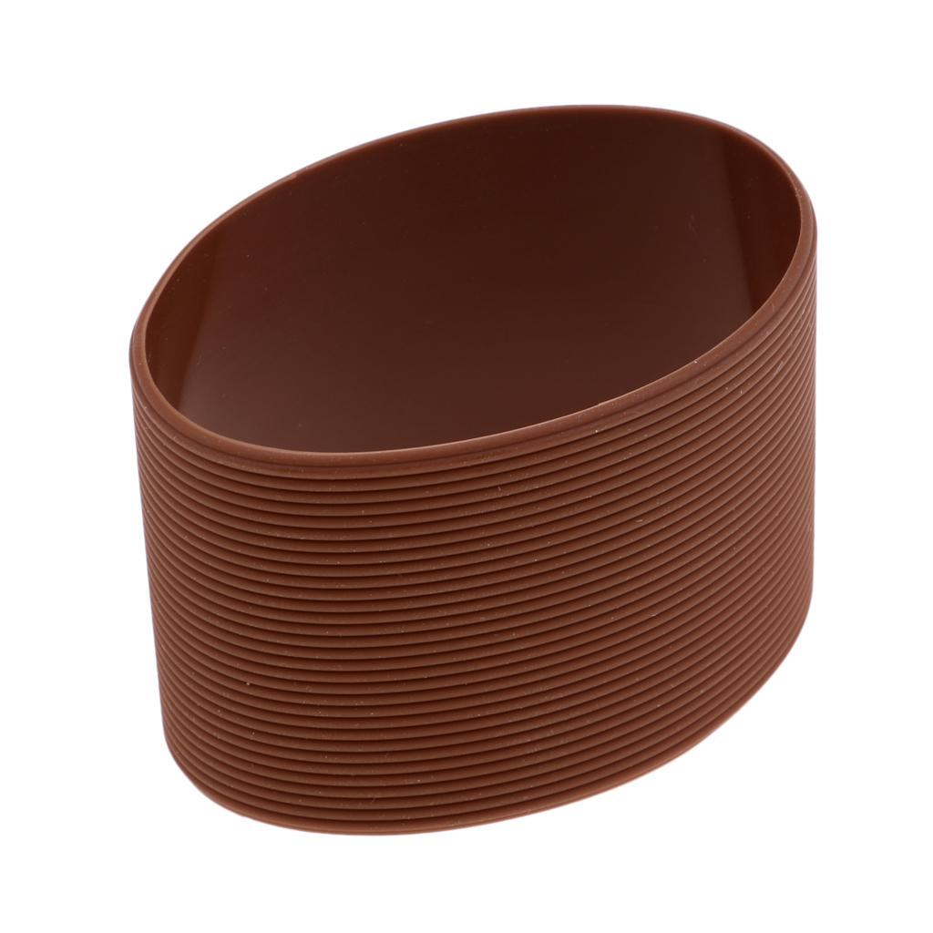 MagiDeal-Outdoors-Silicone-Round-Non-slip-Water-Bottle-Mug-Cup-Sleeve-Cover thumbnail 15